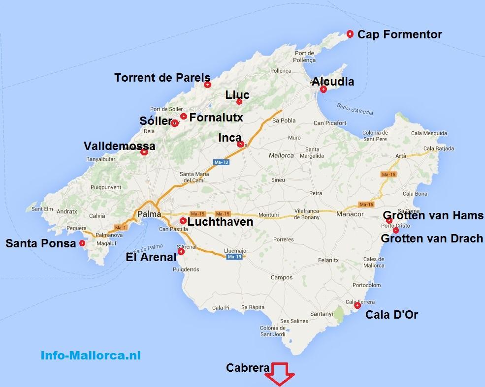 mallorca steden en dorpen - fornalutx, felanitx, inca, lluc, manacor